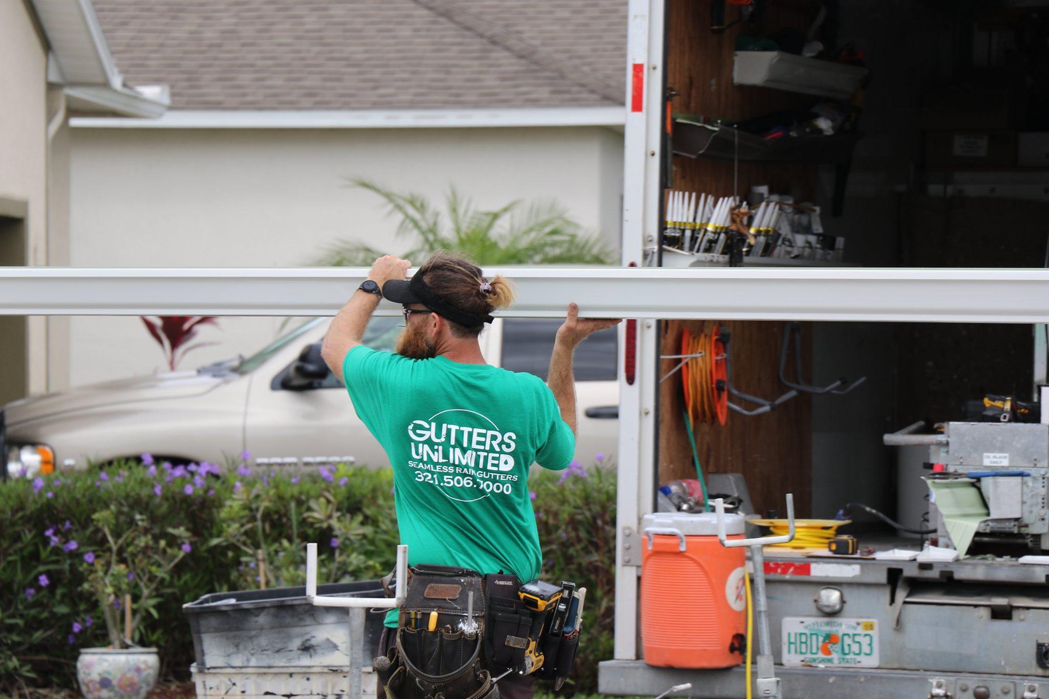 Palm Shores gutter installation